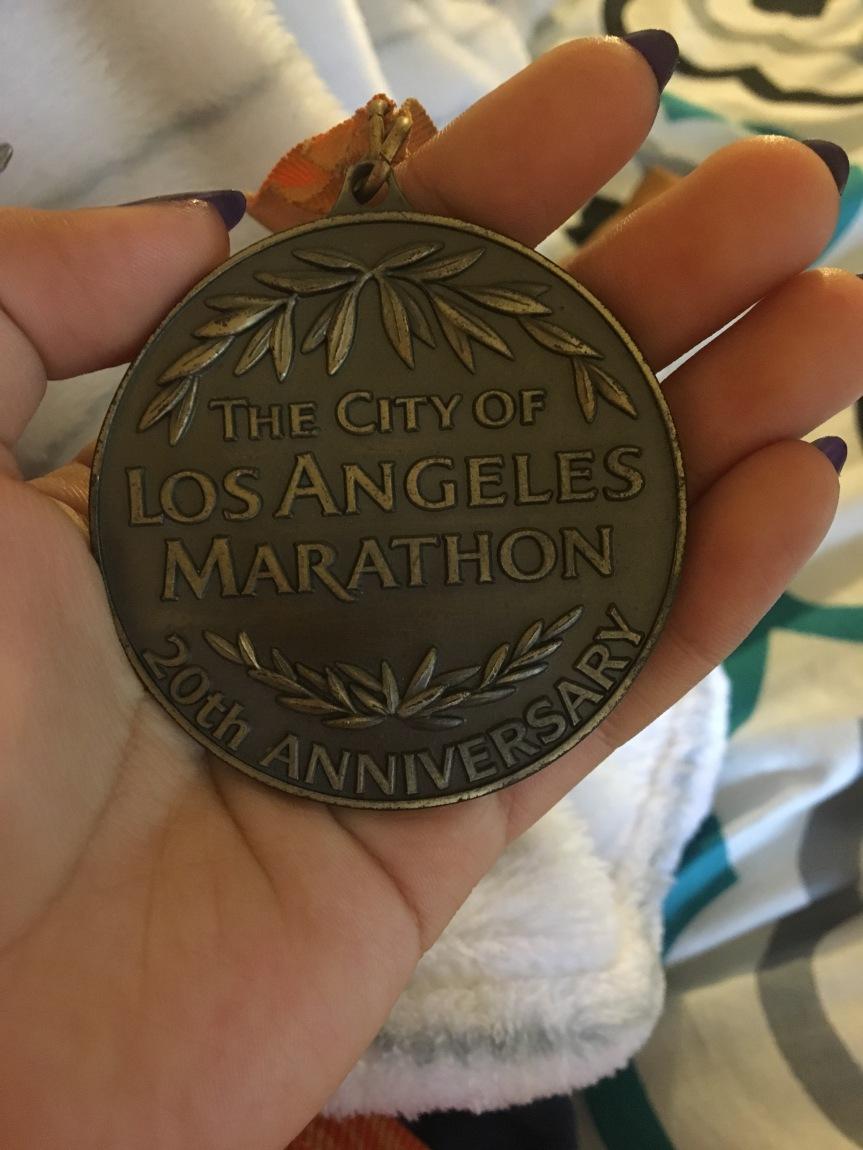 LA marathon medal